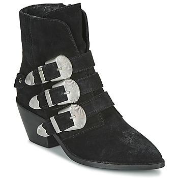 Sapatos Mulher Botas baixas Pepe jeans WESTERN W BUCKLE Preto
