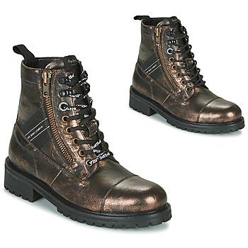 Sapatos Mulher Botas baixas Pepe jeans MELTING TAPE Bronze