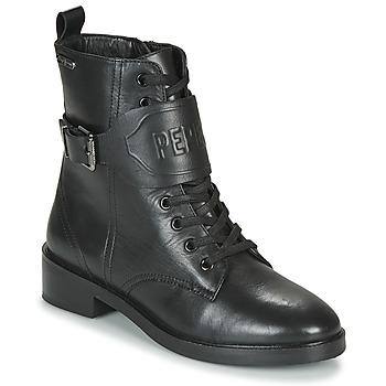 Sapatos Mulher Botas baixas Pepe jeans MALDON LOGO Preto