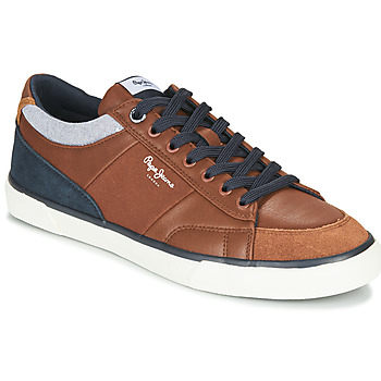 Sapatos Homem Sapatilhas Pepe jeans KENTON SPORT Castanho