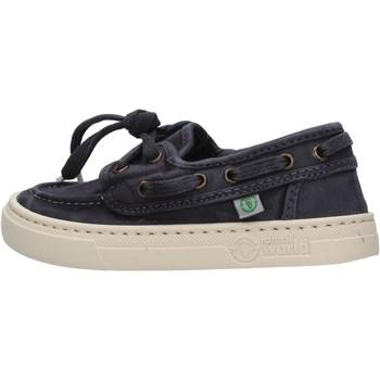 Sapatos Rapaz Sapato de vela Natural World - Sneaker blu 6473E-677 BLU