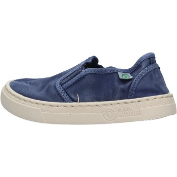 Sapatos Rapaz Slip on Natural World - Slip on  blu 6472E-628 BLU