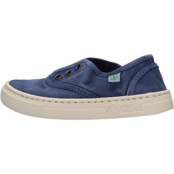 Sapatos Rapaz Sapatilhas Natural World - Sneaker blu 6470E-628 BLU