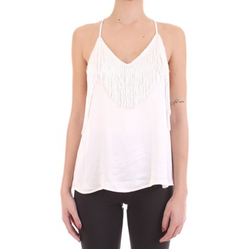 Textil Mulher T-Shirt mangas curtas Yes Zee T221-EG00 Branco