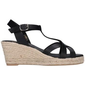 Sapatos Homem Alpargatas Paseart ROM/V108 VAQUETA NEGRO Mujer Negro noir