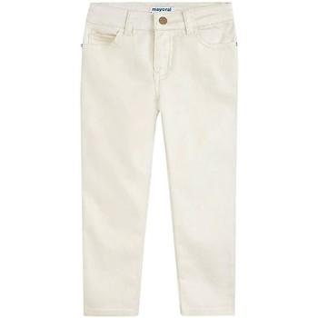 Textil Rapariga Calças Mayoral Kids Pant. largo sarga metalizada beige