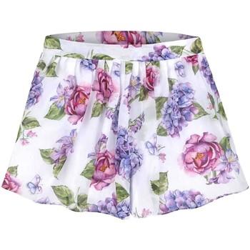 Textil Rapariga Shorts / Bermudas Mayoral Kids Falda pantalon gasa estampada multicolor
