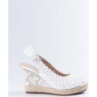 Sapatos Mulher Sandálias Mandarina Shoes Cuñas Mandarina Lidia Blanco Branco