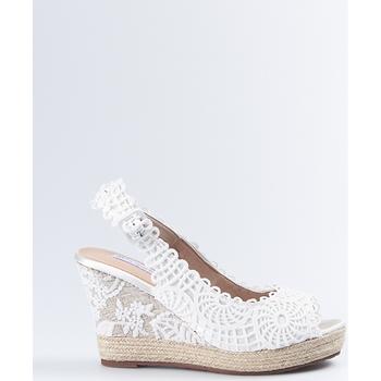 Sapatos Mulher Sandálias Mandarina Shoes Cuña Mandarina Lidia Blanco Branco