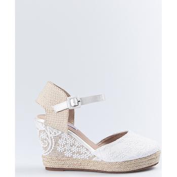 Sapatos Mulher Alpargatas Mandarina Shoes Cuña Mandarina Leticia Blanco Branco