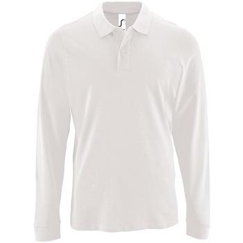 Textil Homem Polos mangas compridas Sols PERFECT LSL COLORS MEN Blanco