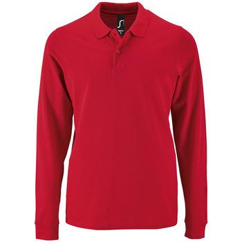 Textil Homem Polos mangas compridas Sols PERFECT LSL COLORS MEN Rojo