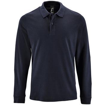 Textil Homem Polos mangas compridas Sols PERFECT LSL COLORS MEN Azul