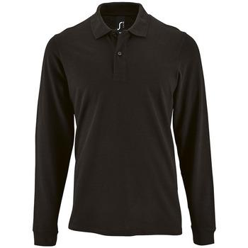 Textil Homem Polos mangas compridas Sols PERFECT LSL COLORS MEN Negro
