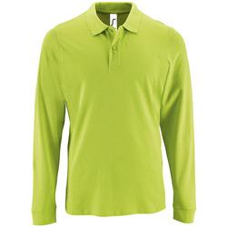 Textil Homem Polos mangas compridas Sols PERFECT LSL COLORS MEN Verde