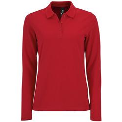 Textil Mulher Polos mangas compridas Sols PERFECT LSL COLORS WOMEN Rojo
