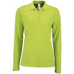 Textil Mulher Polos mangas compridas Sols PERFECT LSL COLORS WOMEN Verde