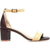 Sapatos Mulher Sandálias Nae Vegan Shoes Margot Pinatex castanho