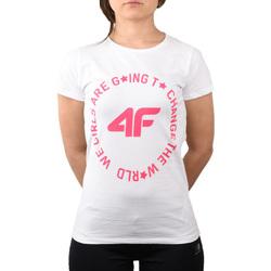 Textil Criança T-shirts e Pólos 4F Girl's T-shirt HJL20-JTSD013A-10S