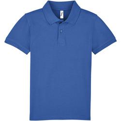 Textil Criança Polos mangas curta Sols PERFECT KIDS COLORS Azul
