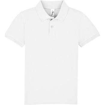 Textil Criança Polos mangas curta Sols PERFECT KIDS COLORS Blanco