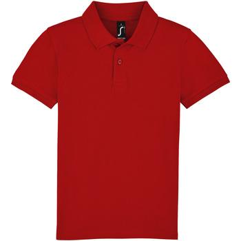 Textil Criança Polos mangas curta Sols PERFECT KIDS COLORS Rojo