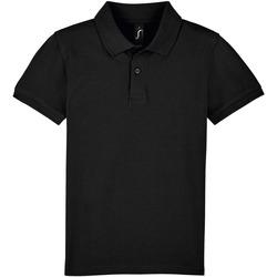Textil Criança Polos mangas curta Sols PERFECT KIDS COLORS Negro
