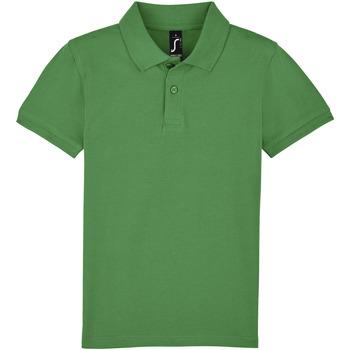 Textil Criança Polos mangas curta Sols PERFECT KIDS COLORS Verde
