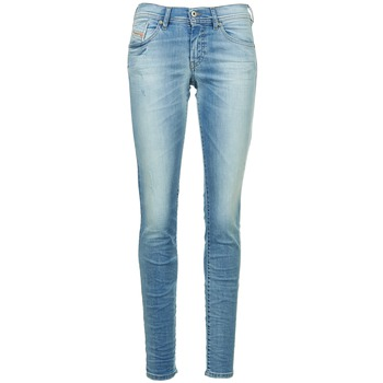Textil Mulher Calças de ganga slim Diesel FRANCY Azul / Claro