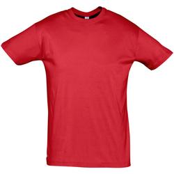 Textil Homem T-Shirt mangas curtas Sols REGENT COLORS MEN Rojo