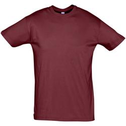 Textil Homem T-Shirt mangas curtas Sols REGENT COLORS MEN Burdeo