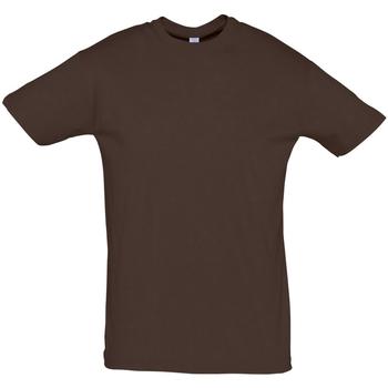 Textil Homem T-Shirt mangas curtas Sols REGENT COLORS MEN Marrón