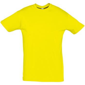 Textil Homem T-Shirt mangas curtas Sols REGENT COLORS MEN Amarillo
