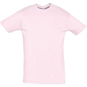 Textil Homem T-Shirt mangas curtas Sols REGENT COLORS MEN Rosa