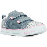 Sapatos Rapariga Sapatilhas Skechers S'Lights Shuffle Lite Miss Butterfly Azul