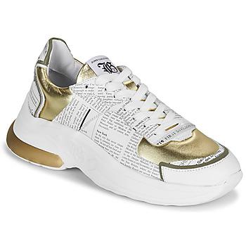 Sapatos Mulher Sapatilhas John Galliano 3646 Branco / Ouro