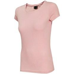 Textil Mulher T-Shirt mangas curtas 4F TSD001 Cor-de-rosa