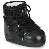 Sapatos Mulher Botas de neve Moon Boot MOON BOOT CLASSIC LOW GLANCE Preto