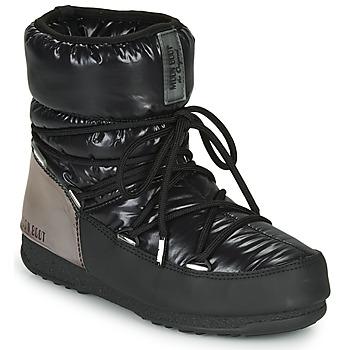Sapatos Mulher Botas de neve Moon Boot MOON BOOT LOW ASPEN WP Preto