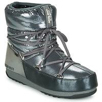 Sapatos Mulher Botas de neve Moon Boot MOON BOOT LOW SAINT MORITZ WP Cinza