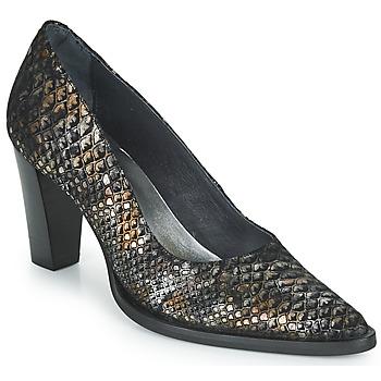 Sapatos Mulher Escarpim Myma  Preto / Ouro