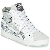 Sapatos Mulher Sapatilhas de cano-alto Meline IN1363 Branco / Prateado