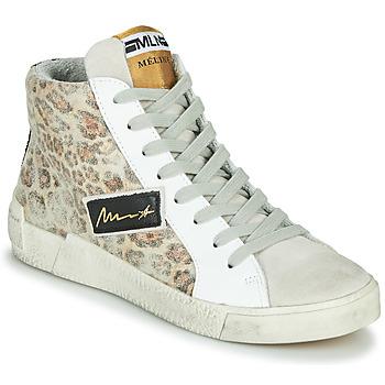 Sapatos Mulher Sapatilhas de cano-alto Meline NK5050 Bege / Leopardo