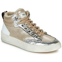 Sapatos Mulher Sapatilhas de cano-alto Meline STRA5056 Bege / Ouro