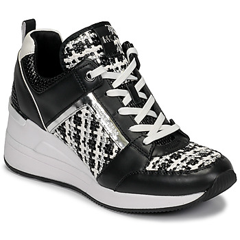 Sapatos Mulher Sapatilhas MICHAEL Michael Kors GEORGIE TRAINER Preto / Branco
