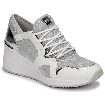 Sapatos Mulher Sapatilhas MICHAEL Michael Kors LIV TRAINER Branco / Prateado