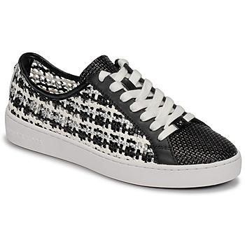 Sapatos Mulher Sapatilhas MICHAEL Michael Kors OLIVIA LACE UP Preto / Branco