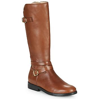 Sapatos Rapariga Botas Acebo's 9863-CUERO-T Castanho