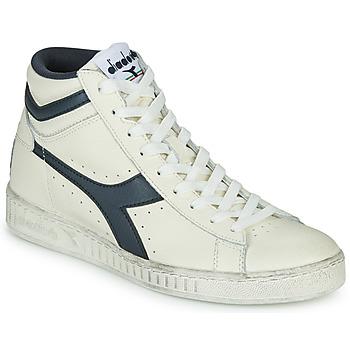 Sapatos Sapatilhas de cano-alto Diadora GAME L HIGH WAXED Branco / Azul