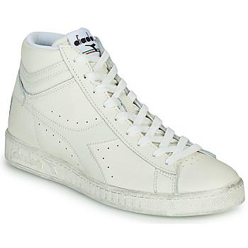 Sapatos Sapatilhas de cano-alto Diadora GAME L HIGH WAXED Branco